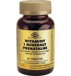 Witaminy mineraly prenatalne - 60tabl - Solgar