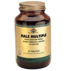 Male multiple, witaminy i minerały dla mężczyzn - 60tabl - Solgar