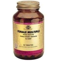 Female multiple, witaminy i minerały dla kobiet - 60tabl - Solgar