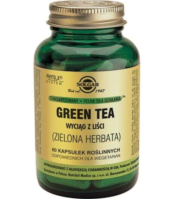 Zielona herbata wyciąg z liści - 60kaps - Solgar