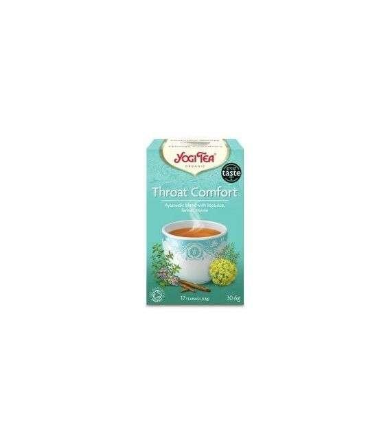 Herbata Throat Comfort (na gardło) - 17x1,8g - Yogi Tea