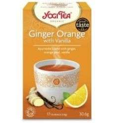Herbata Imbirowo-pomarańczowa z wanilią - 17x1,8g - Yogi Tea