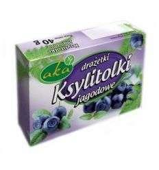 """Drażetki pudrowe """"ksylitolki"""" jagodowe - 40g - Aka"""