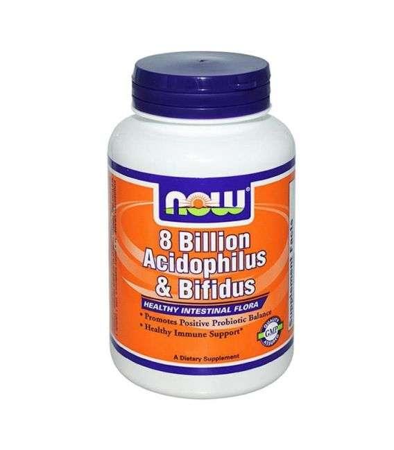 Acidophilus & Bifidus (8 bilion) - 120kaps - NOW