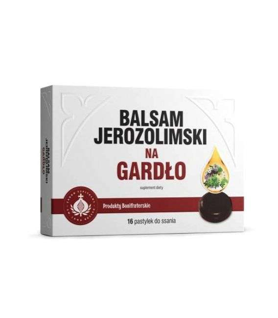 Balsam Jerozolimski na gardło - 16past - Produkty Bonifraterskie