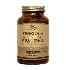 Omega 3 natur żródło EPA i DHA koncentrat oleju rybiego - 60kaps - Solgar