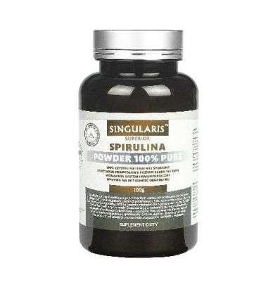 Spirulina w proszku 100% pure Superior - 100g - Singularis