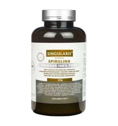 Spirulina w proszku 100% pure Superior - 250g - Singularis