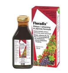 Floradix Żelazo i witaminy w płynnej formule - 250ml - Salus Haus