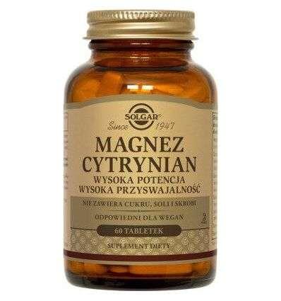 Magnez cytrynian - 60tabl - Solgar