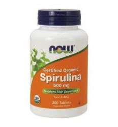 Spirulina 500mg - 200tabl - NOW