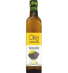 Olej Rzepakowy tłoczony na zimno - 500ml - Kropla omega