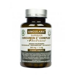 Curcumin C3 Complex 500mg + 5mg - 70 kapsułek wegańskich - Singularis