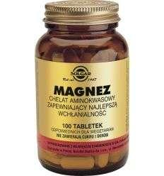 Magnez chelat aminokwasowy - 100tabl - Solgar