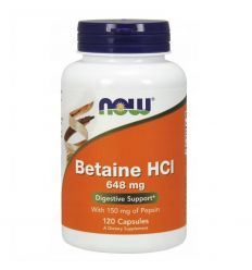 Betaina HCL - 120kaps - Now Foods