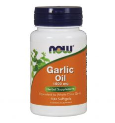 Garlic Oil Olejek Czosnkowy, czosnek - 100softgels - Now Foods