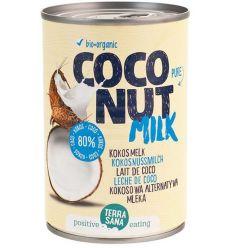 Napój Kokosowy Coconut Milk Bez Gumy Guar w Puszce 22% Tłuszczu Bio - 400ml - Terrasana