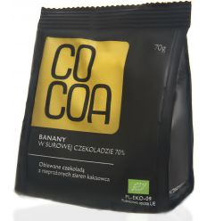 Banany w Czekoladzie 70% Bio - 70g - Cocoa