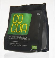 Orzechy Brazylijskie w Surowej Czekoladzie Bio - 70g - Cocoa