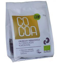 Orzechy Nerkowca w Czekoladzie Kokosowej Bio - 70g - Cocoa