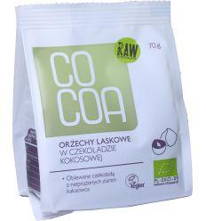 Orzechy Laskowe w Czekoladzie Kokosowej Bio - 70g - Cocoa
