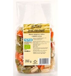 Makaron Orkiszowy z Dodatkiem Warzyw Jeżyki Kolorowe Bio - 250g - Niro