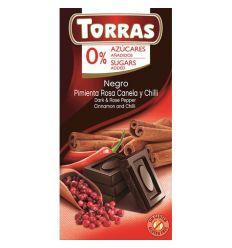 Czekolada Gorzka z Pieprzem Cynamonem i Chili - 75g - Torras