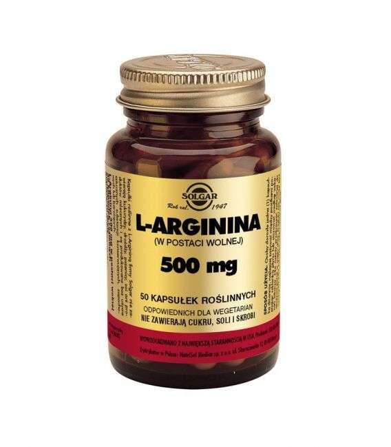 L-arginina 500mg - Solgar