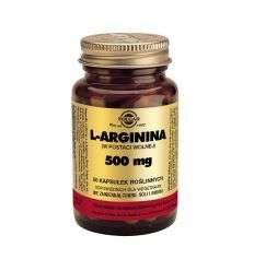 L-arginina 500mg - 30kaps - Solgar