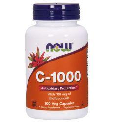 Witamina C 1000mg o Przedłużonym Działaniu - 100tabl - Now Foods