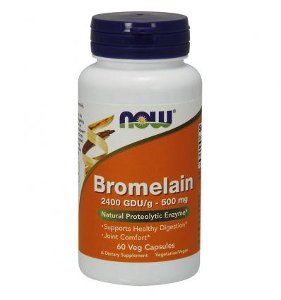 Bromelain 2400 GDUg 500mg - 60kaps - Now Foods