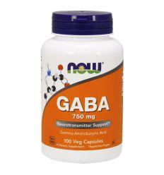 GABA 750mg - 100kaps - Now Foods
