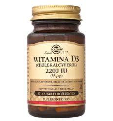Witamina D3 2200 IU - 50kaps - Solgar