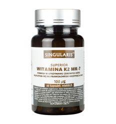 Witamina K2 MK7 100ug Superior - 60 kaps - Singularis