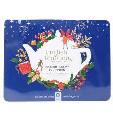 Kolekcja herbat świątecznych w metalowej puszce Kobalt 6 smaków BIO - 36 saszetek - English Tea Shop