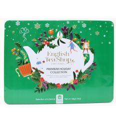 Kolekcja Herbat Świątecznych W Metalowej Puszce Zieleń 6 smaków BIO - 36 saszetek - English Tea Shop