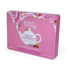Zestaw Herbatek Treat Yourself w Ozdobnej Puszce Bio - 60g - English Tea Shop