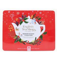 Zestaw Herbatek Premium Holiday Collection W Ozdobnej Czerwonej Puszce BIO - 54g - English Tea Shop