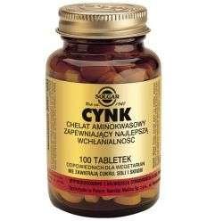 Cynk chelat - 100tabl - Solgar