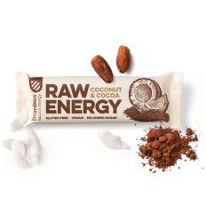 Baton raw energy kokos-kakao bezgl. - 50g - BOMBUS