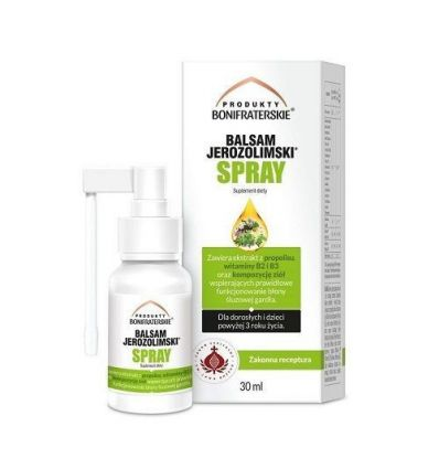 Balsam Jerozolimski Spray Z Propolisem - 30ml - Produkty Bonifraterskie