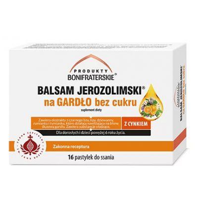 Balsam Jerozolimski Na Gardło Bez Cukru - 16 pastylek do ssania - Produkty Bonifraterskie