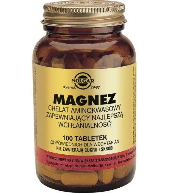 Magnez chelat - 100tabl - Solgar