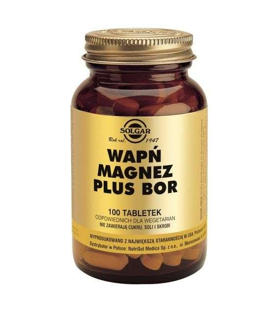 Wapń Magnez Bor - 100tabl - Solgar