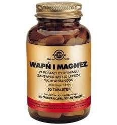 Wapń Magnez cytrynian - 100tabl - Solgar