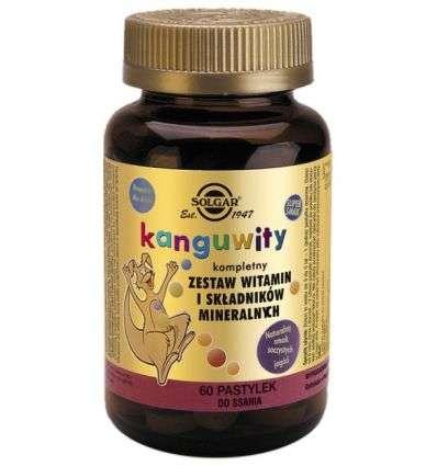 Kanguwity Witaminy i minerały jagoda - 60past - Solgar