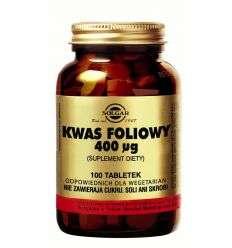 Kwas foliowy hypoalergiczny - 100tabl - Solgar